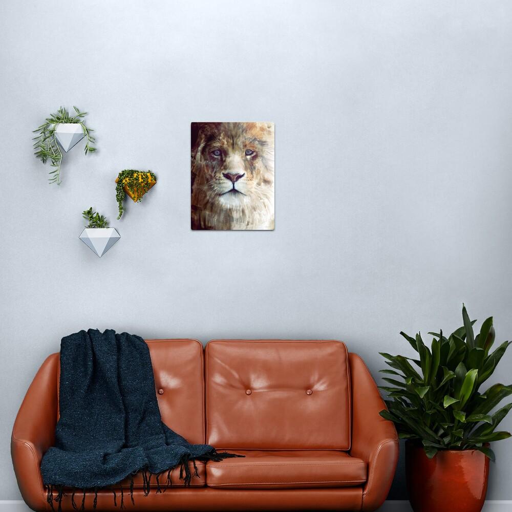 Lion // Majesty Metal Print