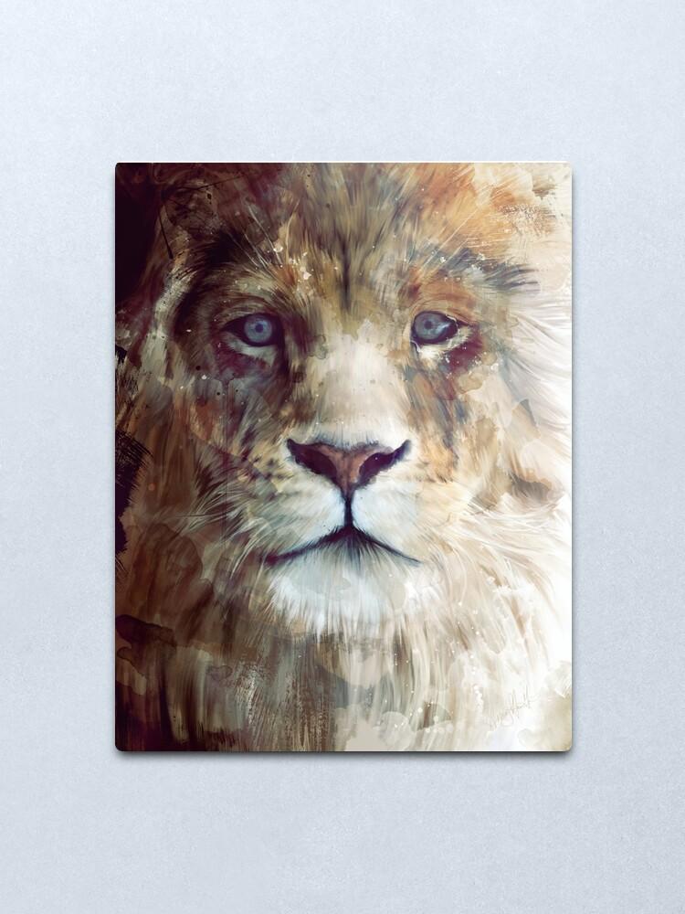 Alternate view of Lion // Majesty Metal Print