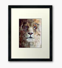 Lion // Majesty Framed Print
