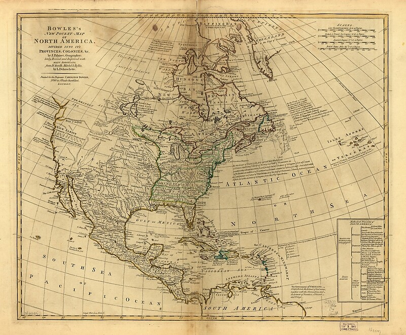 1766 - Bowles's Map of North America