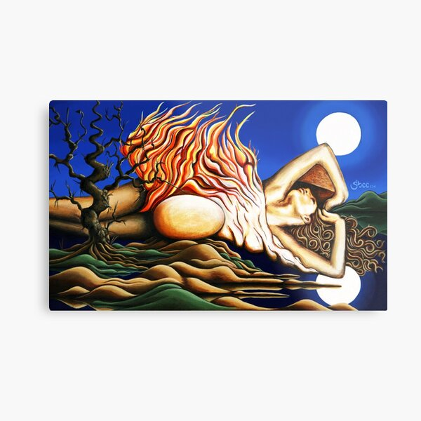 Journey Within - Original Art from Shee - Surreal Worlds Metal Print