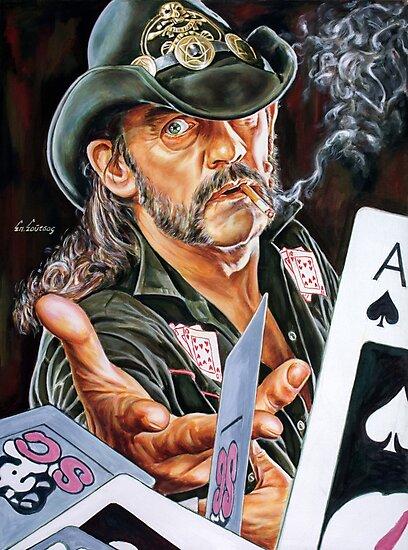 Lemmy Kilmister painting by Star Portraits Soutsos Art