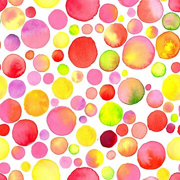 Bright watercolor pattern with circles by picbykate