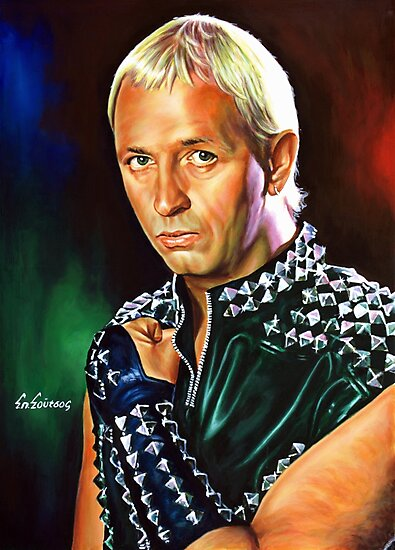 Rob Halford Priest, painting portrait by Star Portraits Soutsos Art