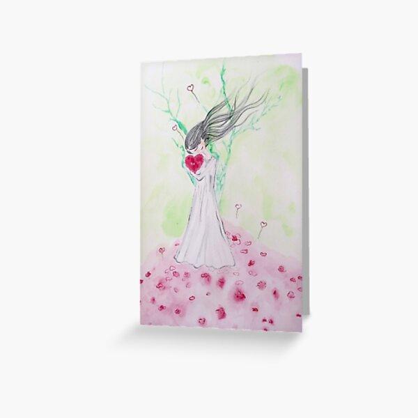 Heart Bloom Greeting Card