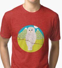 Blanche, la chouette T-shirt chiné