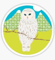 Blanche, la chouette Sticker