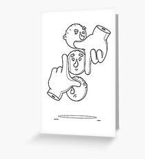 See No Evil, Hear No Evil, Speak No Evil - Outline Greeting Card