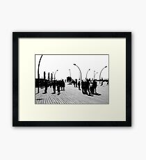 Tel Aviv Port In The Morning Framed Print