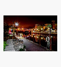 Nighttime Along the Erie Canal Towpath Photographic Print