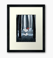 Bear and Bird Framed Print