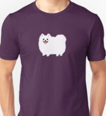 Fluffy White Pommern Slim Fit T-Shirt