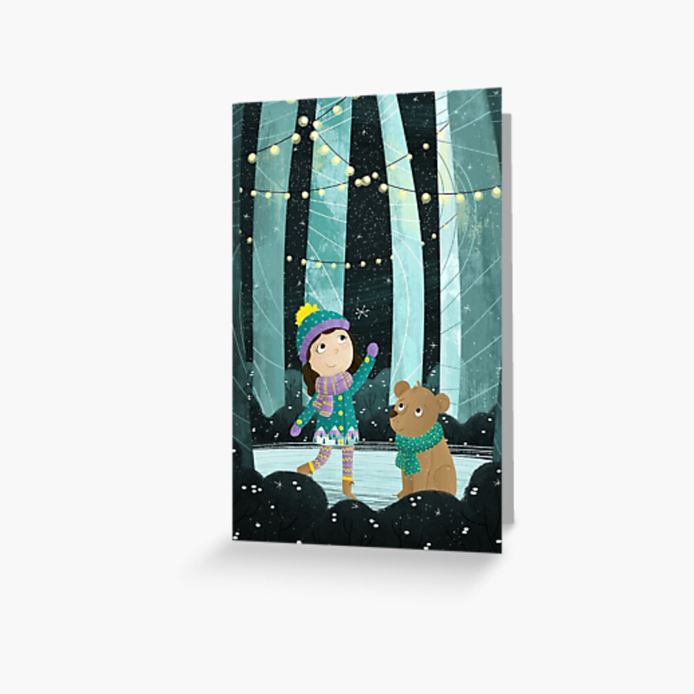 Snowlights Greeting Card