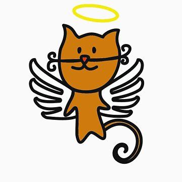 angel cat by katinka