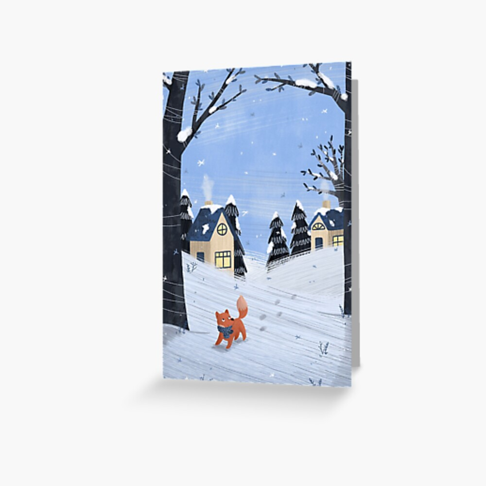 Foxy Winterscape Greeting Card
