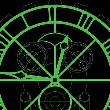 Wicked Clock Set Design - Green by laingdesign