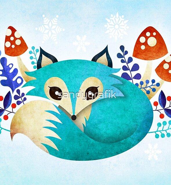 Winter Fox by sandygrafik
