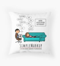 Editherapy - The Invisible Said Throw Pillow