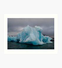 Blue Iceberg Art Print