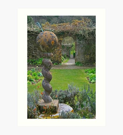 The Walled Garden, Hartland Abbey Art Print