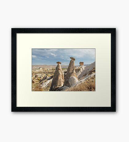 Fairy Chimneys and the Argos Volcano Framed Print
