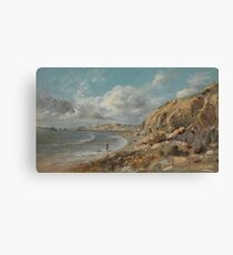 Coast Scene at Cullercoats near Whitley Bay by John Linnell Canvas Print