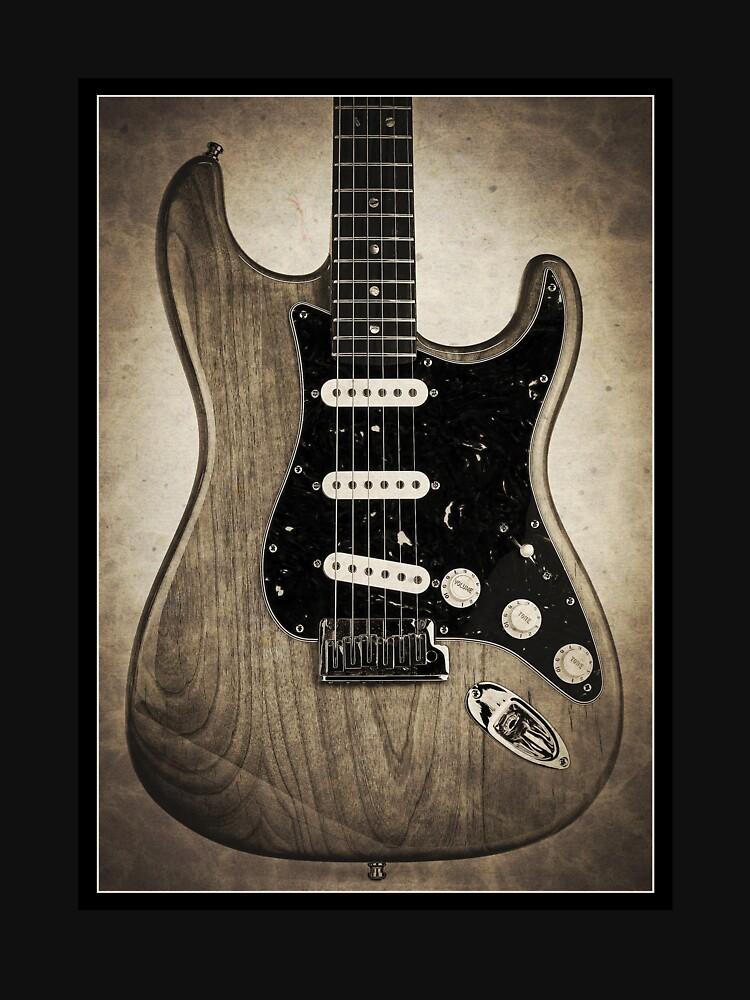 Fender Stratocaster Sepia Border by koping