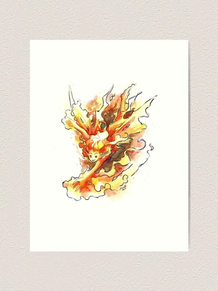 Alternate view of The Fierce Fairy Art Print