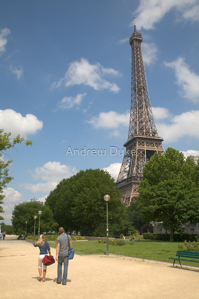Quai Branly in front of the Eiffel Tower, Paris, France by Andrew Duke