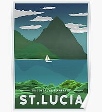 St. Lucia Travel Poster Poster