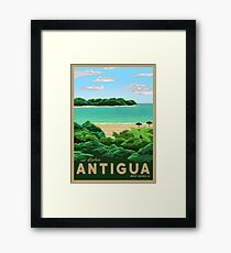 Travel Poster - antigua Framed Print
