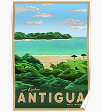 Travel Poster - antigua Poster