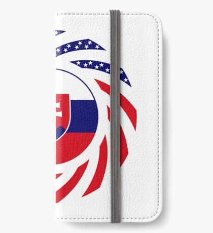 Slovakian American Multinational Patriot Flag Series iPhone Wallet