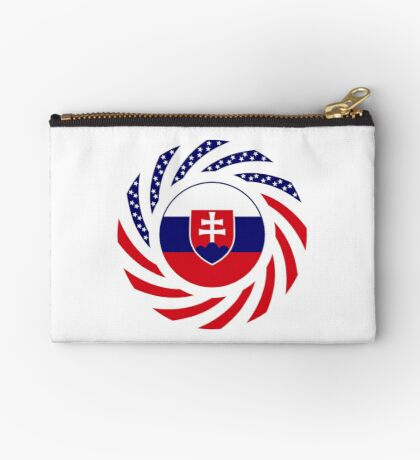 Slovakian American Multinational Patriot Flag Series Zipper Pouch