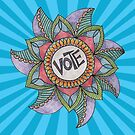 Vote - Postcard for getting the vote out! by KFStudios