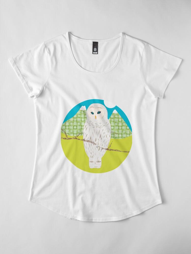 T-shirt premium échancré ''Blanche, la chouette': autre vue