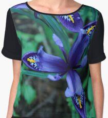 Spring Iris Chiffon Top