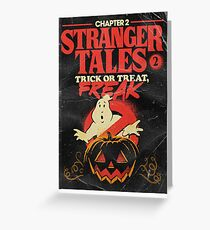 Stranger things 2 BOOK STYLE Greeting Card