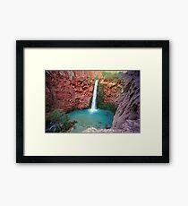 Moony Falls Framed Print