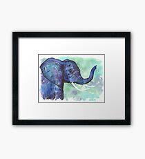 Watercolor Elephant Framed Print