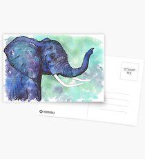 Watercolor Elephant Postcards