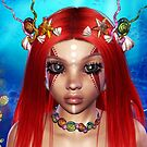 The Red Fire Mermaid  Princess by Junior Mclean