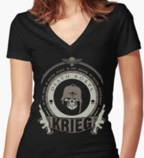 KRIEG - LIMITED EDITION Women's Fitted V-Neck T-Shirt