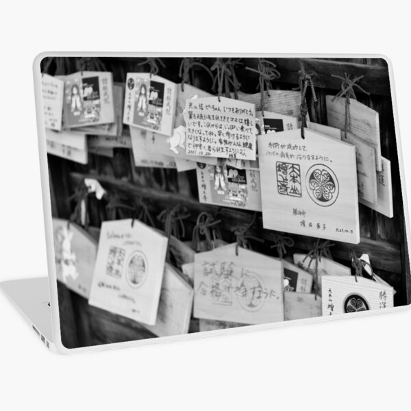 Wooden messages - Tokyo, Japan Laptop Skin