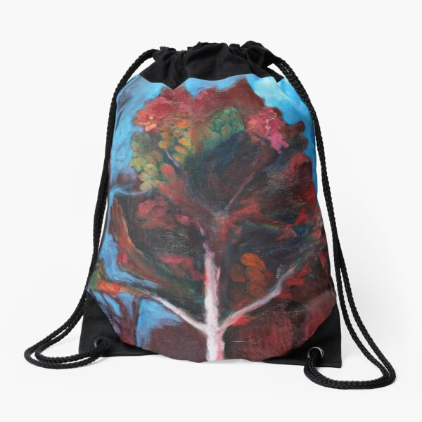 Long Ago Look at an Autumn Blaze Drawstring Bag