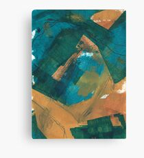 teal and mustard 2 Canvas Print