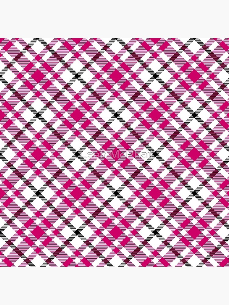 Pink Black and White Tartan by LeahMcPhail