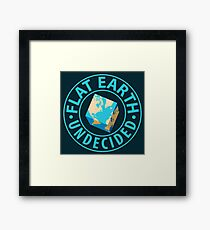 Flat Earth Humor Framed Print
