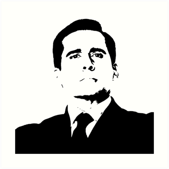 Proud michael scott the office tv show nbc black white by starkle