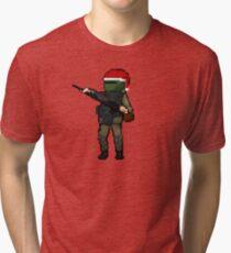 Christmas Tachanka pixel art Rainbow 6 Siege Tri-blend T-Shirt